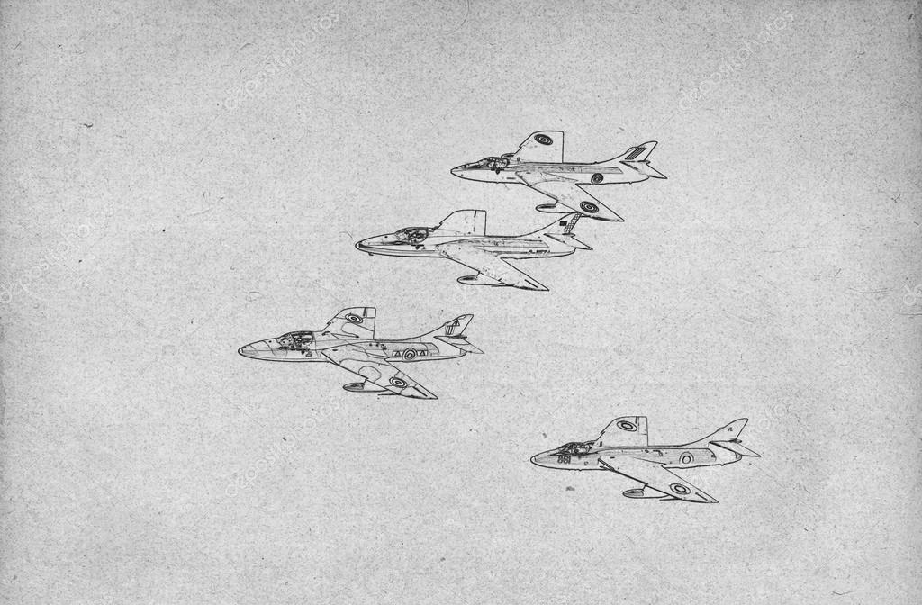 drawing of fighter jets stock photo 23785671