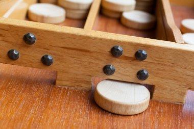 Typical dutch wooden boardgame - Sjoelen