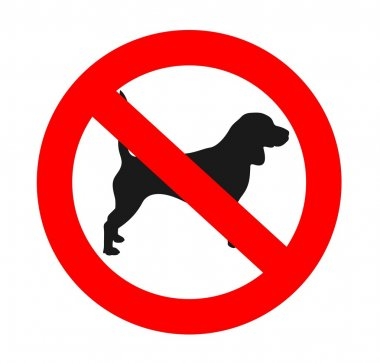 No dogs allowed sign