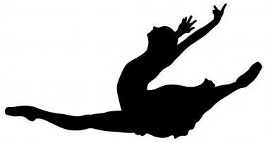 Ballet jump silhouette