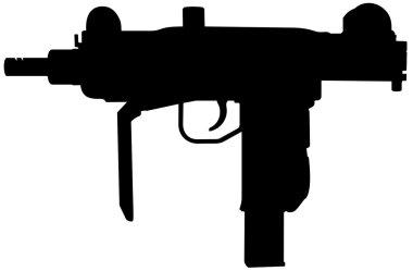 Uzi automatic pistol silhouette