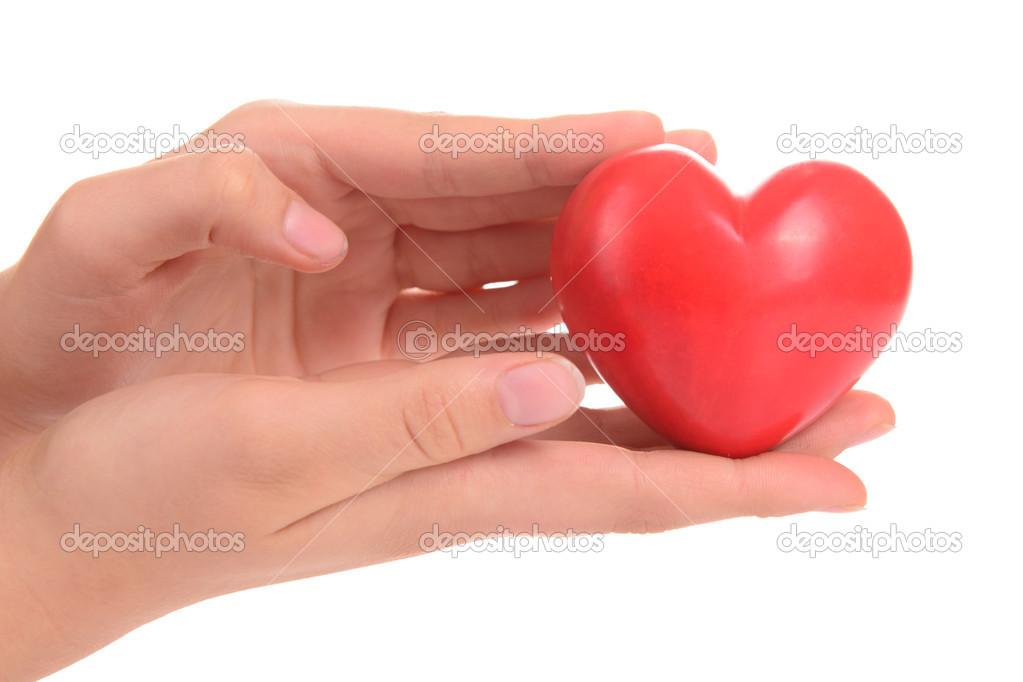 corazón en las manos humanas — Foto de stock © Inna_Astakhova #39862319