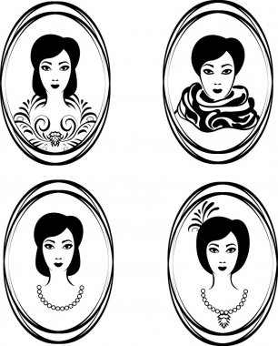 Portrait of a girl in a locket