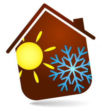 Air conditioning in the house, the design of business clip art vector