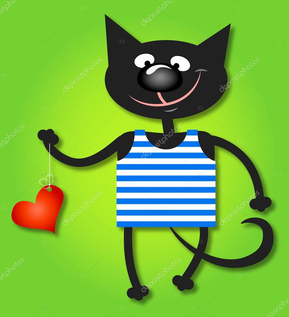 Kot I Sercazachód Tło Tapeta Grafika Wektorowa John1279 33657863