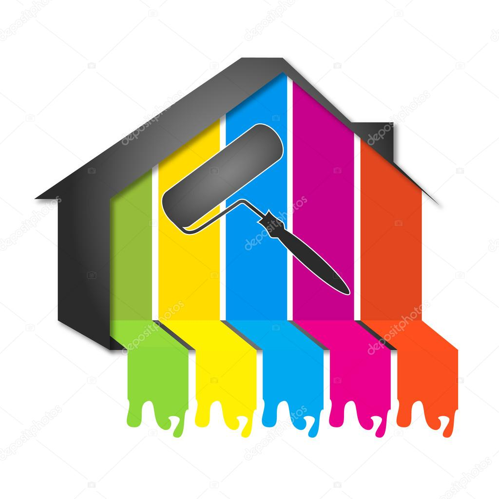 Design para pintura de casas vetor de stock john1279 - Decorarte pinturas ...