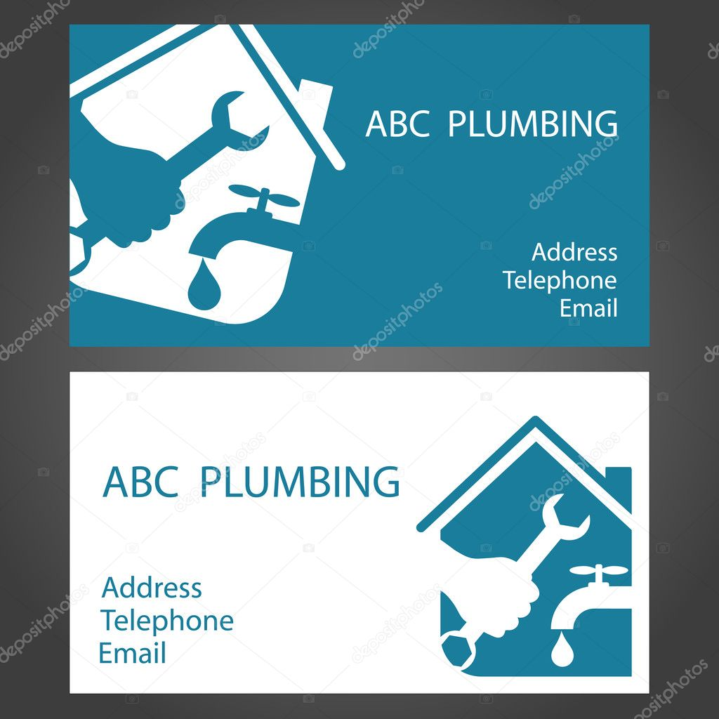 Design business cards for plumbers stock vector john1279 35918499 design business cards for plumbers stock vector colourmoves
