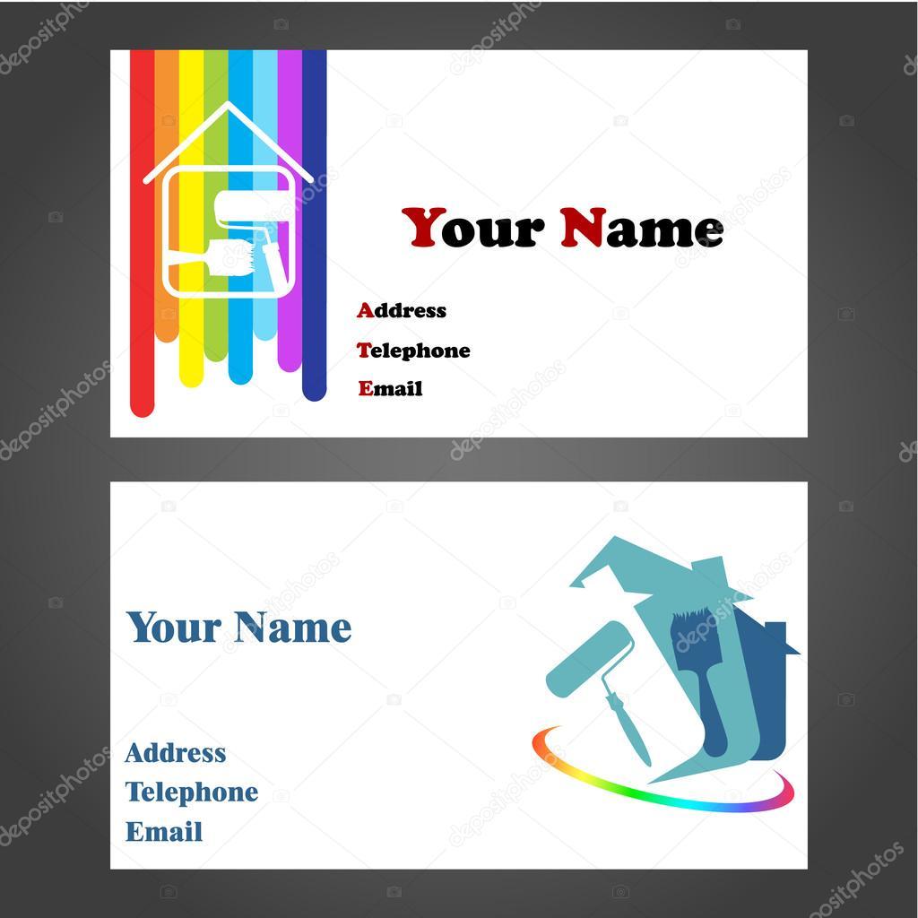 Business Card - Painter — Stock Vector © john1279 #35961909