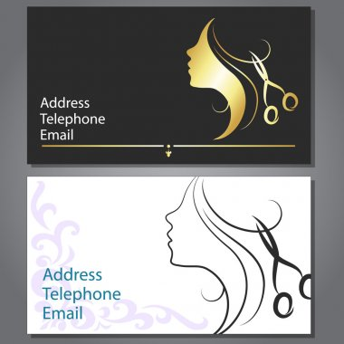 Design business card for hair and beauty salon clip art vector