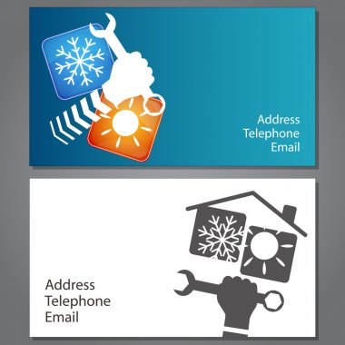 Business card for repair of air conditioners