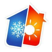 Fotografie symbol klimatizace