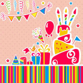 Photo Vector happy birthday background. Greeting card