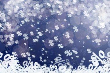 Winter sale conceptual background