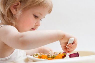 Tasty dinner of baby