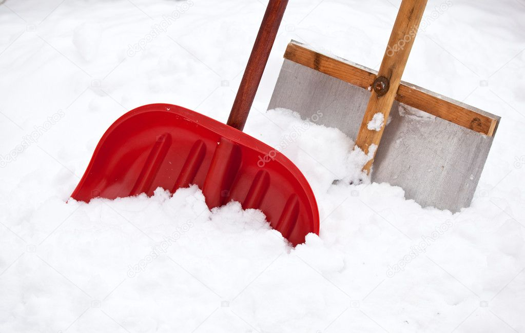 Two shovels for snow removal