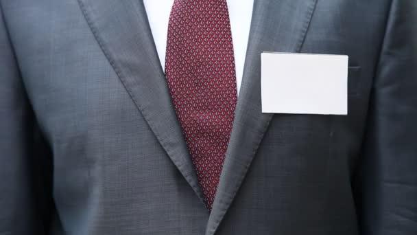 Üres névjegykártya levette üzletember