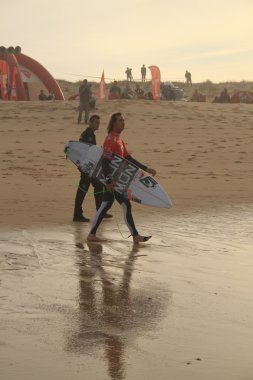 Jordy Smith entering the water
