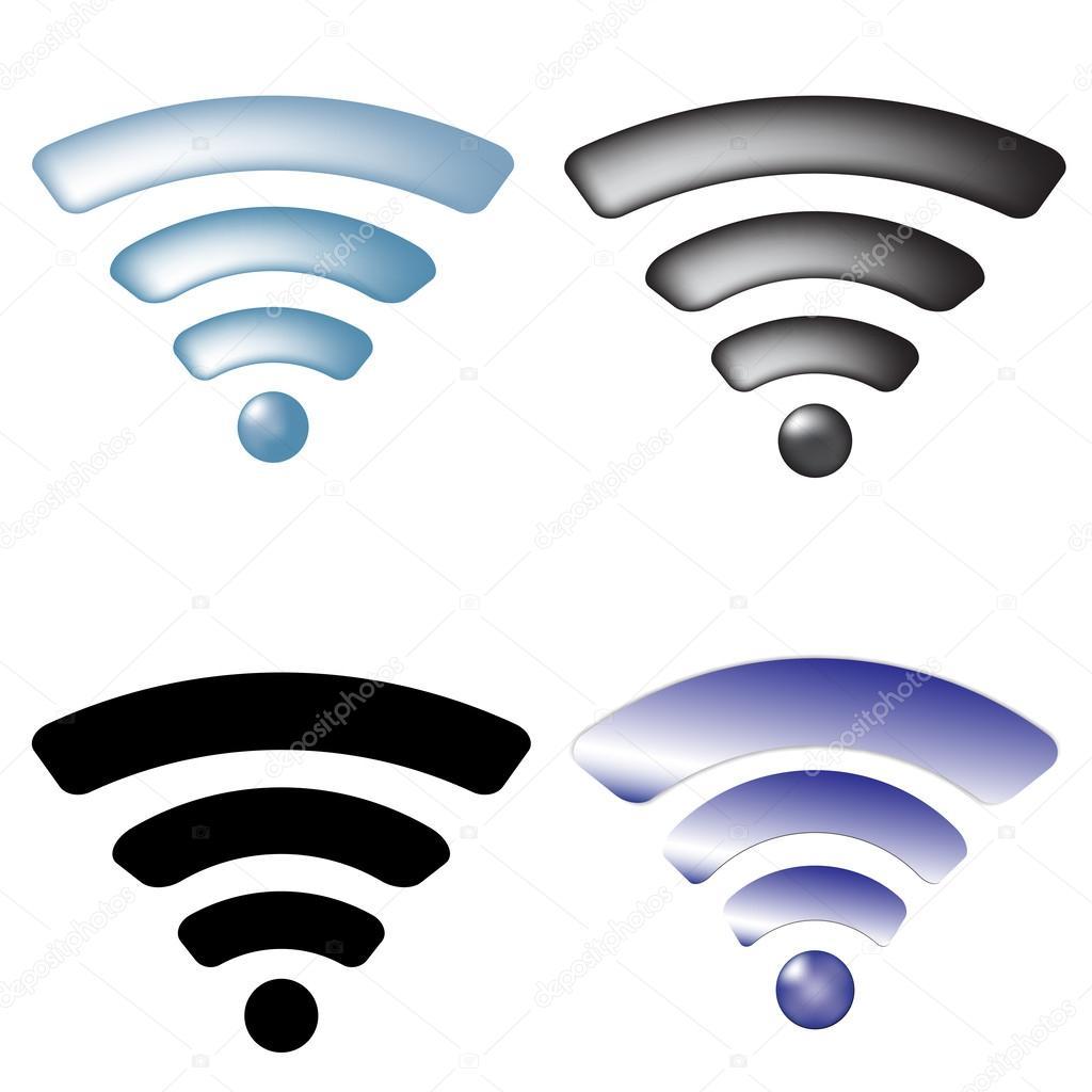 Wireless Network Symbols Set Stock Vector C Gabylya89 28240087