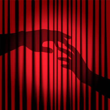 Silhouette of hands