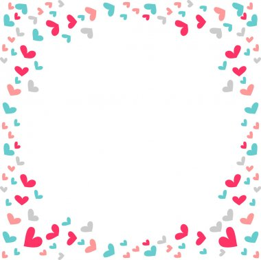 Simple romantic background with hearts
