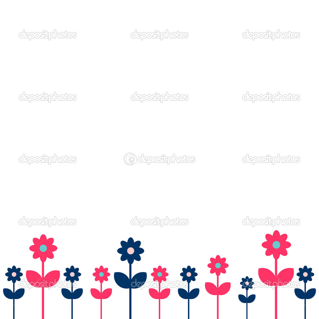 Cute Simple Flower Background Stock Vector Littlepaw 12052401