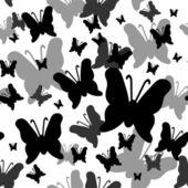 bezešvé vzor s motýly siluety