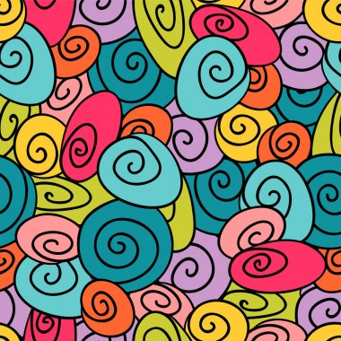 Colorful decorative seamless pattern design