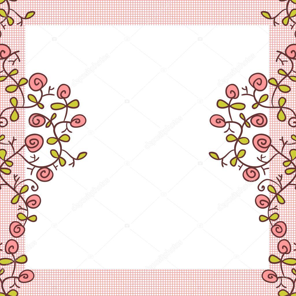 diseño flor marco lindo fondo — Archivo Imágenes Vectoriales ...