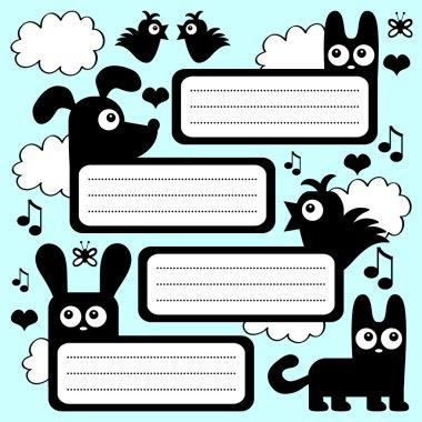 Scrapbook set with cute animals