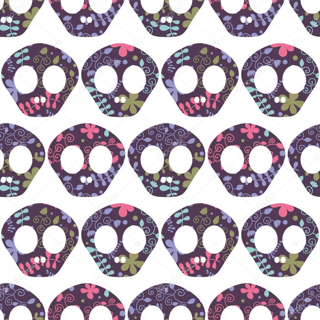 patrones sin fisuras con cráneos humanos — Archivo Imágenes ...