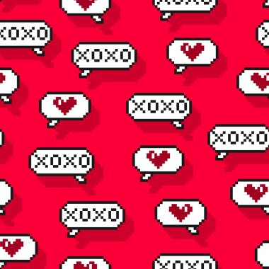 pattern with  speech bubbles romantic chat