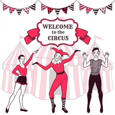 Circus performance advertisement