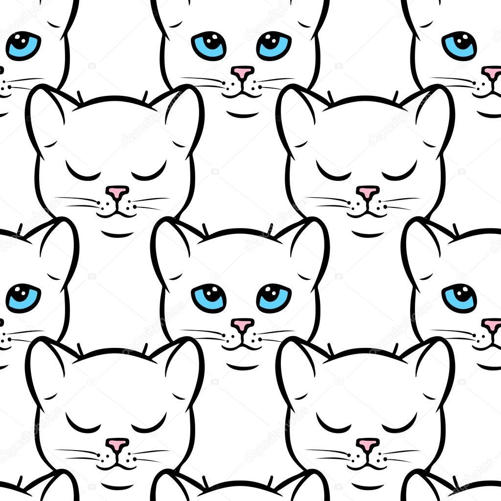 Imágenes: imagennes gatos fondos | patrones sin fisuras con los ...