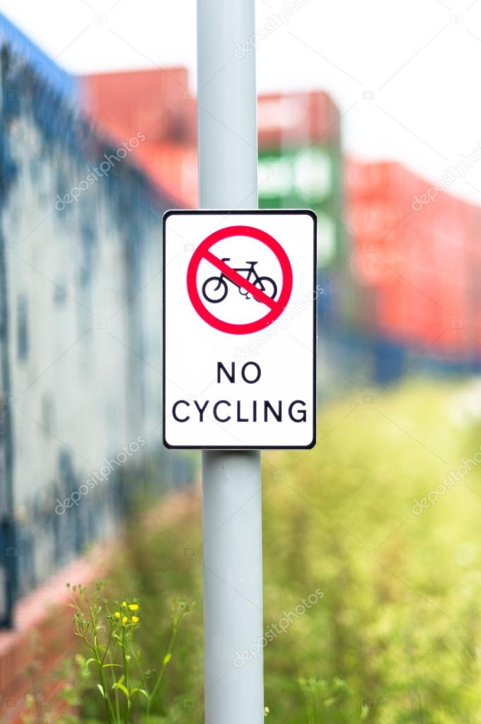 No cycling sign outdoors