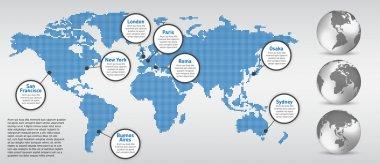 Digital Earth map concept