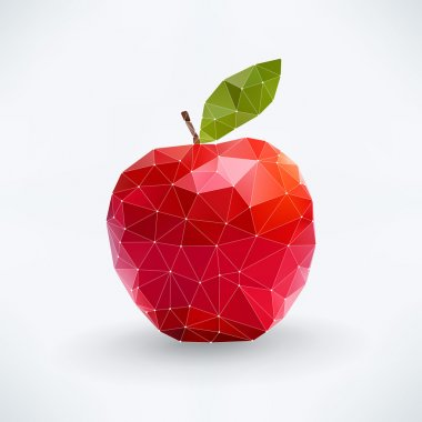 Abstract isolated apple fruit