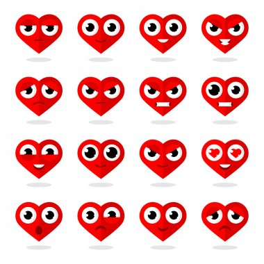 Icons heart smilies