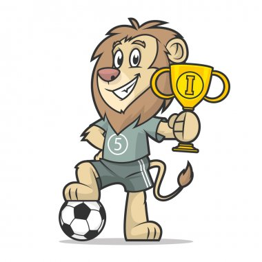 Lion footballer holds cup first place