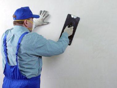 Wall finishing work