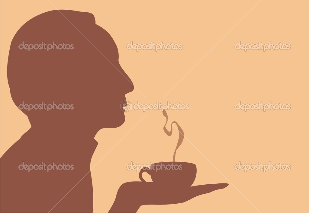 35293a822e071 Silhouette of man with cap of drink — Stock Vector © Marina Juice ...