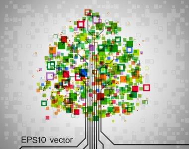 Pixel tree.