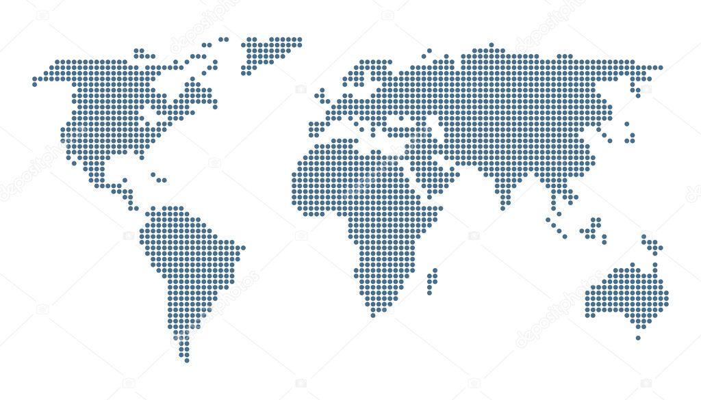 Dotted world map stock vector zayatsandzayats 19476947 dotted world map isolated on white vector image vector by zayatsandzayats gumiabroncs Image collections
