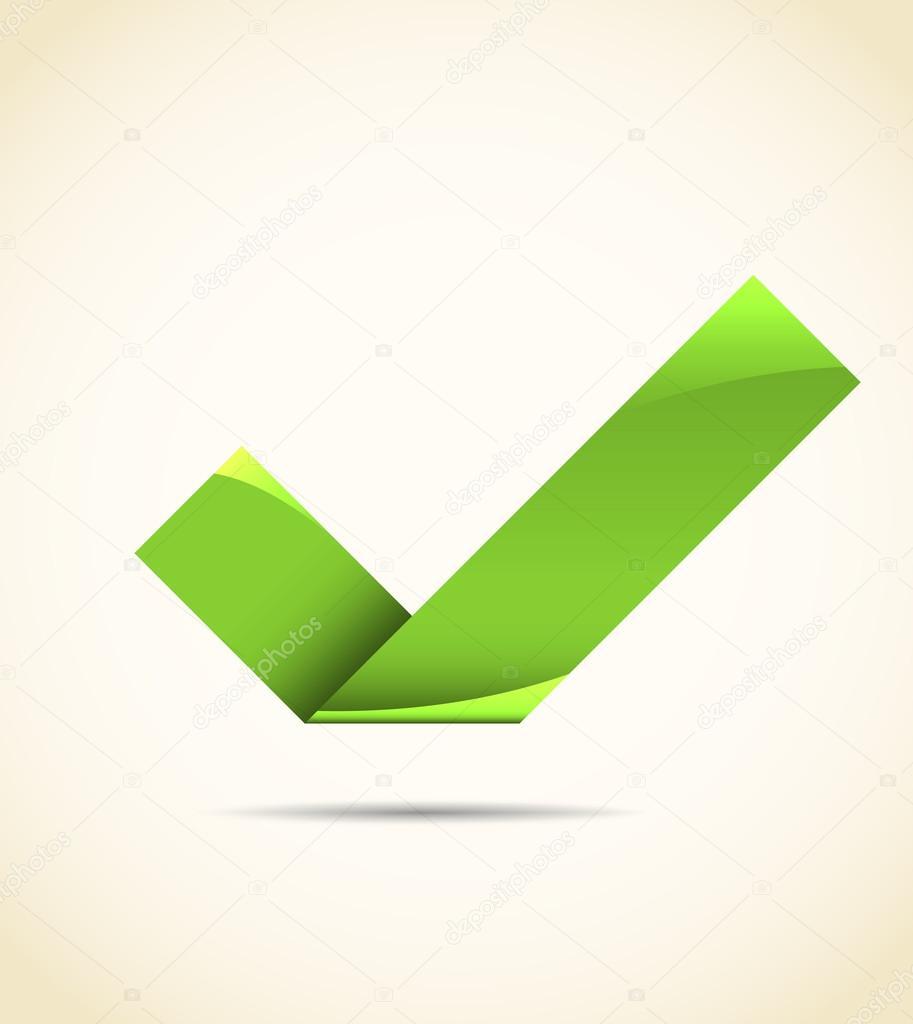 Vector Tick Graphic Tick Verde Vector De Stock