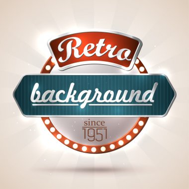 Retro style sign with copyspaces for your text. EPS10 vector clip art vector