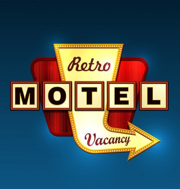 Motel roadsign