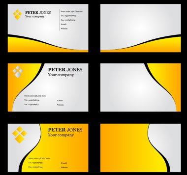 Business Card Set Yellow