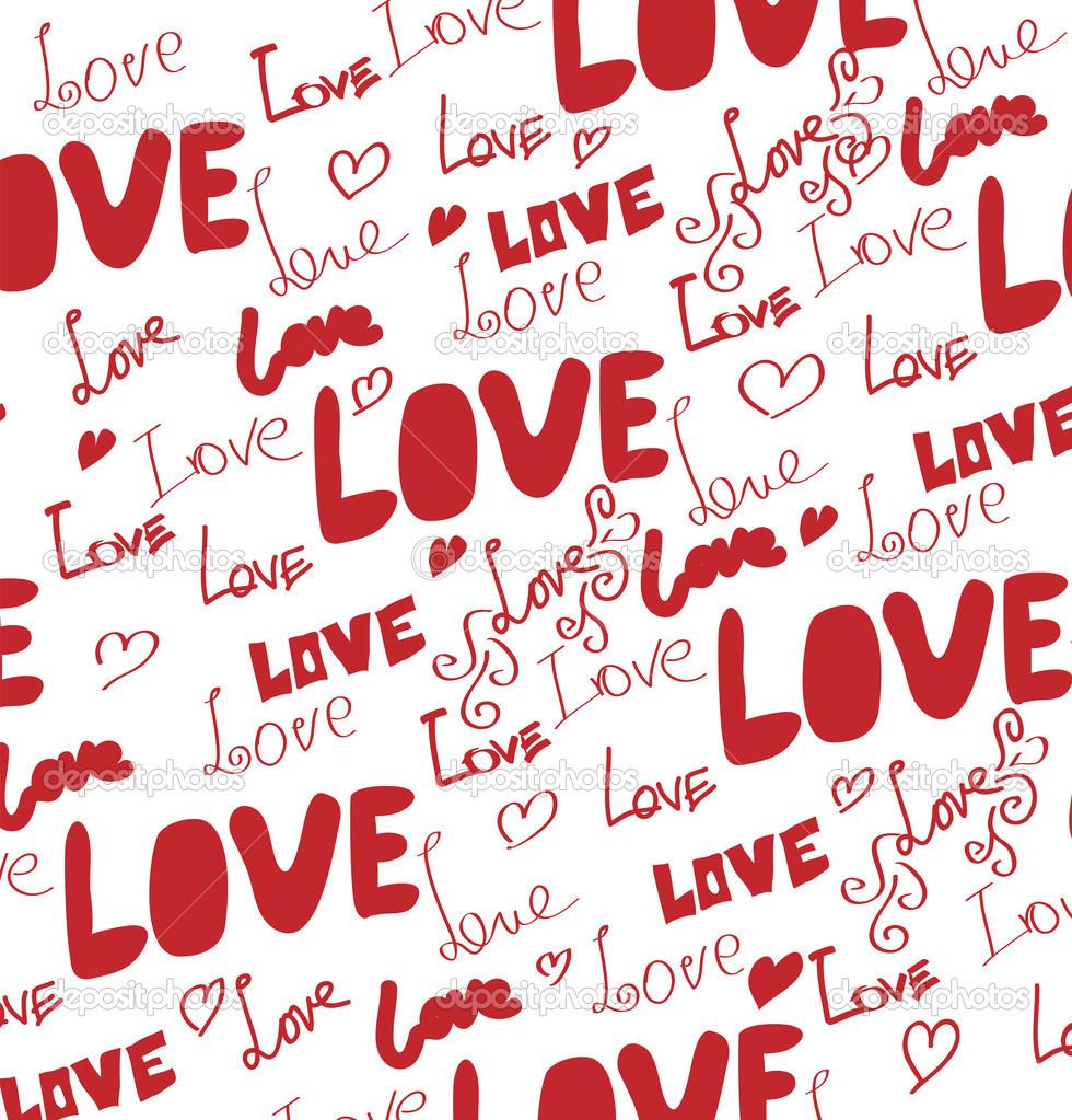 Love Words For Girlfriend Wallpaper : fundo de dia dos Namorados s com as palavras amor e corac?es Vetores de Stock ? ps-42 #37541391