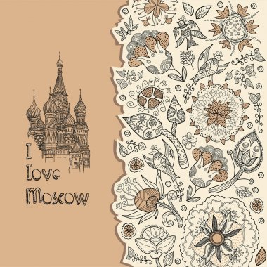 Background moscow, tourism, shopping, card