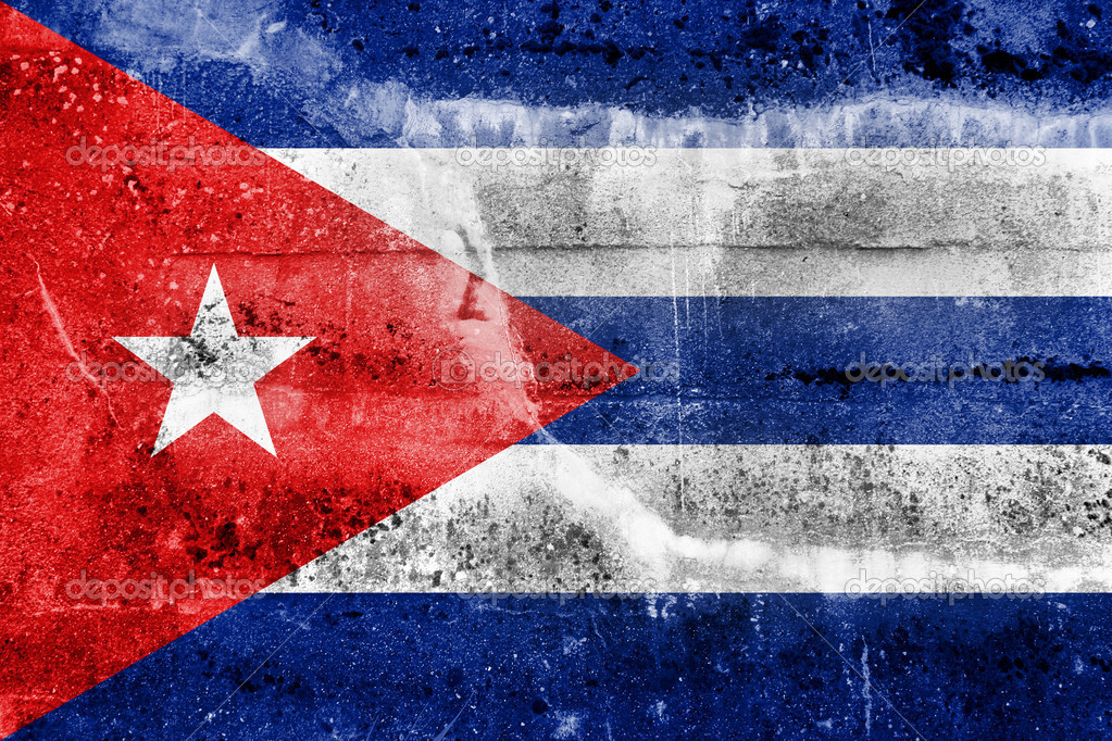 Cuba Flag On Old Grunge Wall Background Photo By PromesaStudio