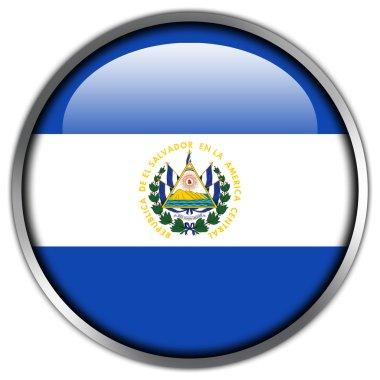 El Salvador Flag glossy button